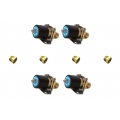 "Quad Pack of 1/2"" Air Valves and four 1/4"" Reducer Bushings Air Ride"
