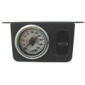 Airlift Single Needle Gauge with One Paddle Switch 200 PSI