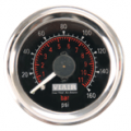Viair 160 PSI 2.0 Dual Needle Gauge Blk  Face
