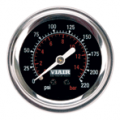 Viair 220 PSI 2in Single Needle Air Gauge (Black)
