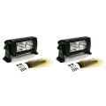 "Dual 5"" 10W High-Power 2X2 LED Flood Beam Light Bar"